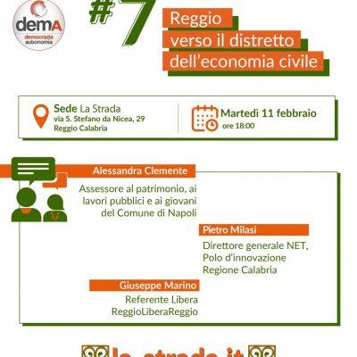 """La Strada per Pazzano Sindaco: martedì 11 febbraio si terrà il Nodo Tematico """"Reggio verso il distretto dell'economia civile"""""""