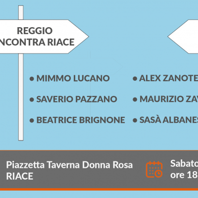 """La Strada con Saverio Pazzano: sabato 1° agosto a Riace per l'iniziativa """"Reggio incontra Riace: l'utopia possibile"""""""